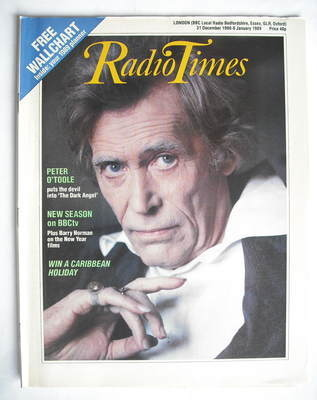 <!--1988-12-31-->Radio Times magazine - Peter O'Toole cover (31 December 19