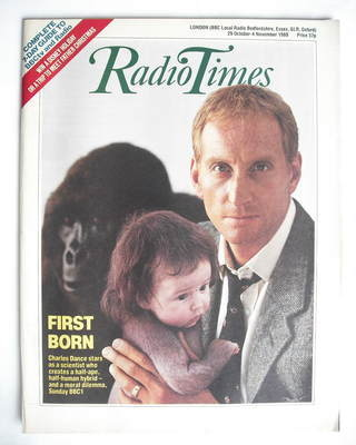 <!--1988-10-29-->Radio Times magazine - Charles Dance cover (29 October - 4