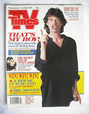 <!--1990-07-07-->TV Times magazine - Mick Jagger cover (7-13 July 1990)