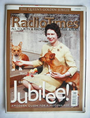 <!--2002-06-01-->Radio Times magazine - Queen Elizabeth II cover (1-7 June