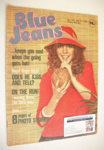 <!--1979-07-21-->Blue Jeans magazine - Leslie Ash cover (21 July 1979 - Iss