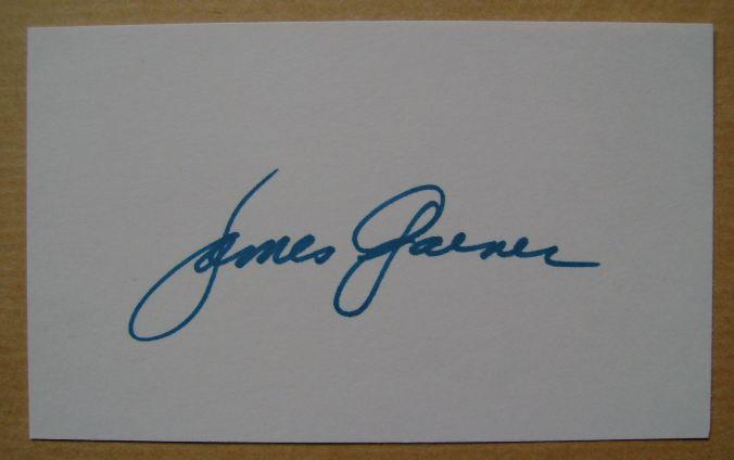 James Garner autograph (hand-signed white card)