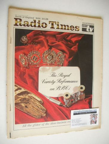 <!--1968-11-23-->Radio Times magazine - Royal Variety Performance cover (23