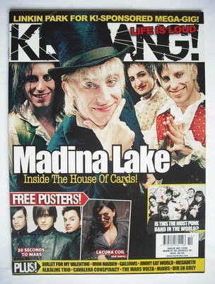 <!--2008-03-08-->Kerrang magazine - Madina Lake cover (8 March 2008 - Issue