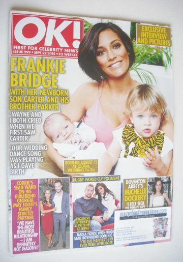 <!--2015-09-22-->OK! magazine - Frankie Bridge cover (22 September 2015 - I