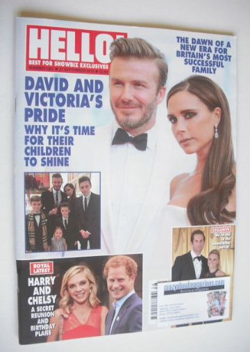 <!--2015-09-21-->Hello! magazine - David and Victoria Beckham cover (21 Sep
