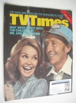 TV Times magazine - Mr and Mrs Bing Crosby cover (18-24 December 1976)