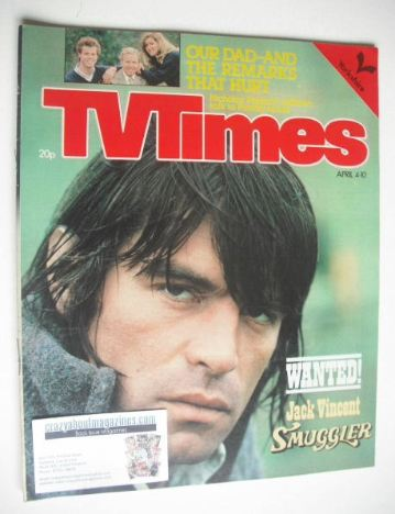 <!--1981-04-04-->TV Times magazine - Oliver Tobias cover (4-10 April 1981)