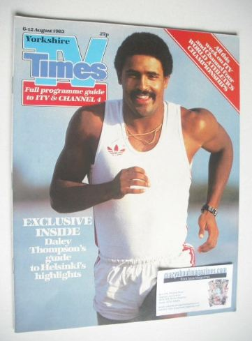 <!--1983-08-06-->TV Times magazine - Daley Thompson cover (6-12 August 1983
