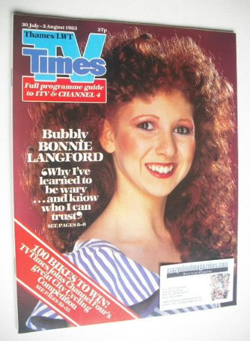 <!--1983-07-30-->TV Times magazine - Bonnie Langford cover (30 July - 5 Aug