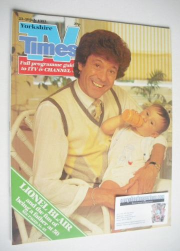<!--1983-07-23-->TV Times magazine - Lionel Blair cover (23-29 July 1983)
