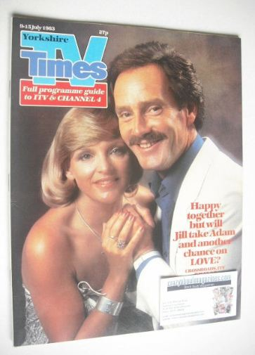 <!--1983-07-09-->TV Times magazine - Tony Adams and Jane Rossington cover (