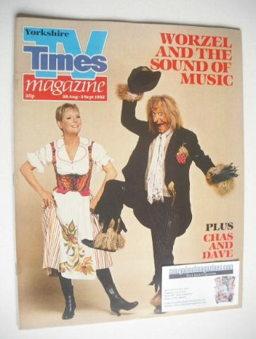 <!--1982-08-28-->TV Times magazine - Petula Clark and Worzel Gummidge cover