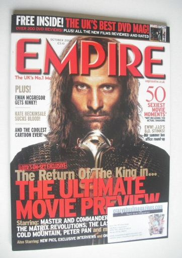 <!--2003-10-->Empire magazine - Viggo Mortensen cover (October 2003 - Issue
