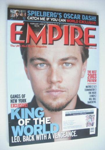 <!--2003-02-->Empire magazine - Leonardo DiCaprio cover (February 2003 - Is