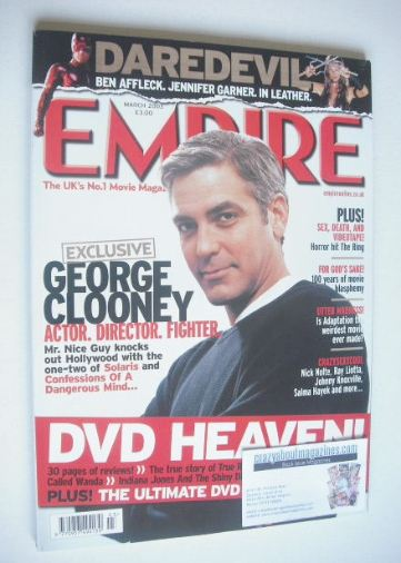 <!--2003-03-->Empire magazine - George Clooney cover (March 2003 - Issue 16