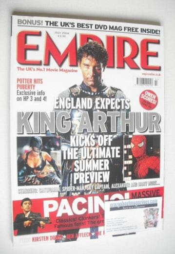 <!--2004-07-->Empire magazine - Clive Owen cover (July 2004 - Issue 181)