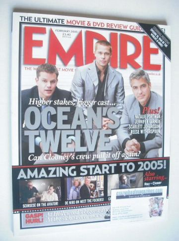 <!--2005-02-->Empire magazine - Ocean's 12 cover (February 2005 - Issue 188