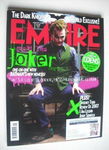 <!--2008-01-->Empire magazine - Heath Ledger (The Joker) cover (January 200