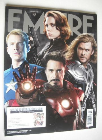 <!--2012-03-->Empire magazine - The Avengers cover (March 2012 - Subscriber