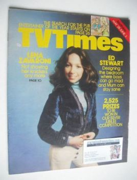 TV Times magazine - Lena Zavaroni cover (28 May - 3 June 1977)