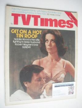 TV Times magazine - Robert Wagner and Natalie Wood cover (11-17 December 1976)
