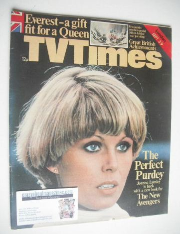 <!--1977-09-03-->TV Times magazine - Joanna Lumley cover (3-9 September 197