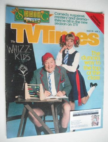 <!--1981-03-28-->TV Times magazine - Sheila White and Arthur Mullard cover