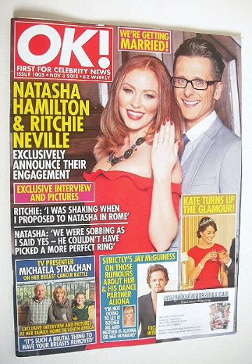 <!--2015-11-03-->OK! magazine - Natasha Hamilton and Ritchie Neville cover