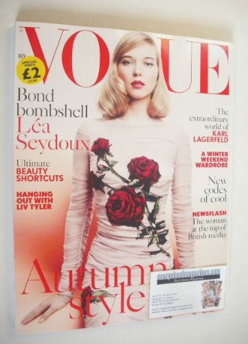 <!--2015-11-->British Vogue magazine - November 2015 - Lea Seydoux cover
