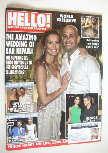 <!--2015-10-12-->Hello! magazine - Bar Refaeli wedding cover (12 October 20