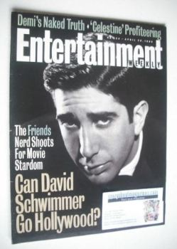 Entertainment Weekly magazine - Davis Schwimmer cover (26 April 1996)