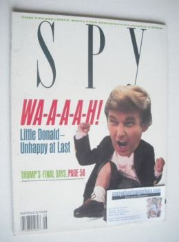 Spy magazine - August 1990 - Donald Trump cover