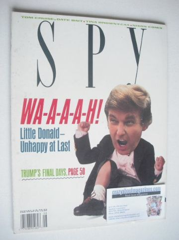 <!--1990-08-->Spy magazine - August 1990 - Donald Trump cover