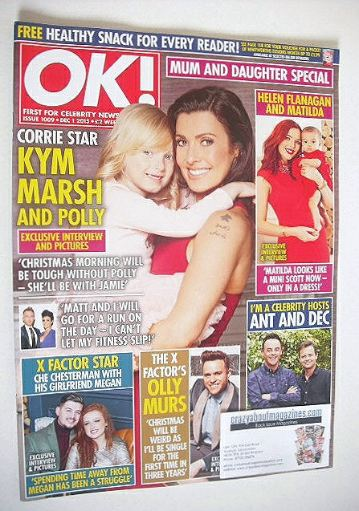 <!--2015-12-01-->OK! magazine - Kym Marsh and Polly cover (1 December 2015