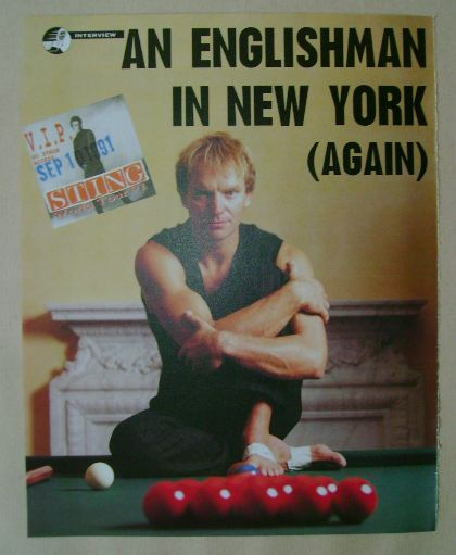 Sting magazine clipping from 1991