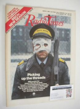 Radio Times magazine - Picking Up The Threads cover (22-28 September 1984)