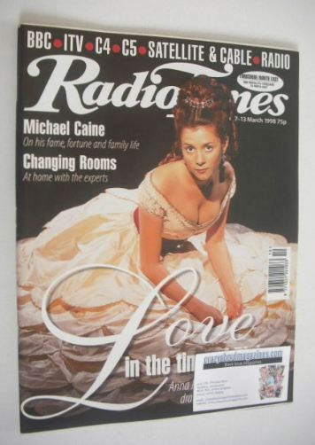 <!--1998-03-07-->Radio Times magazine - Anna Friel cover (7-13 March 1998)