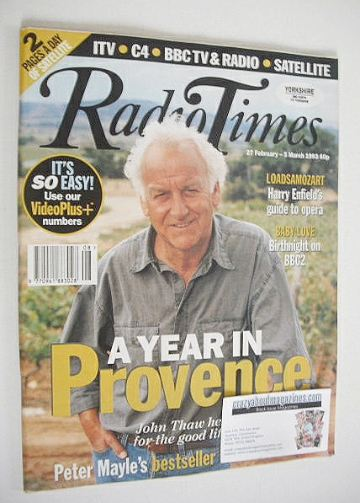 <!--1993-02-27-->Radio Times magazine - John Thaw cover (27 February-5 Marc