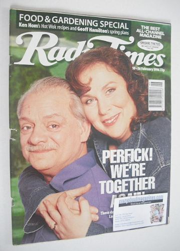 <!--1996-02-10-->Radio Times magazine - David Jason and Pam Ferris cover (1