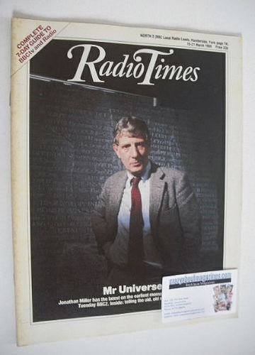 <!--1986-03-15-->Radio Times magazine - Jonathan Miller cover (15-21 March