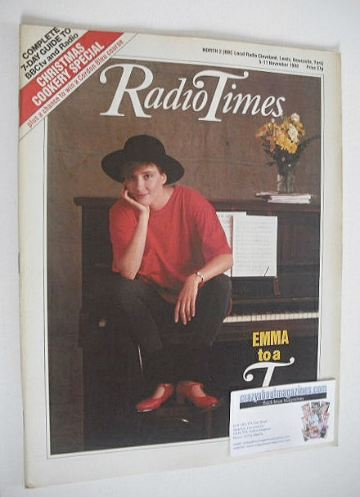 <!--1988-11-05-->Radio Times magazine - Emma Thompson cover (5-11 November