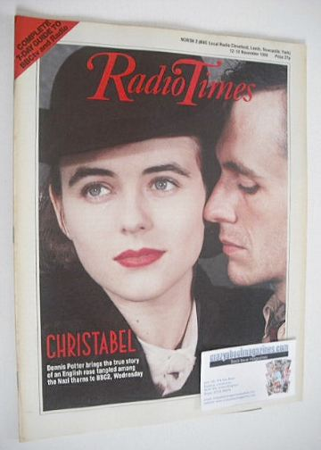 <!--1988-11-12-->Radio Times magazine - Liz Hurley cover (12-18 November 19