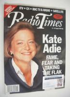 <!--1993-08-14-->Radio Times magazine - Kate Adie cover (14-20 August 1993)