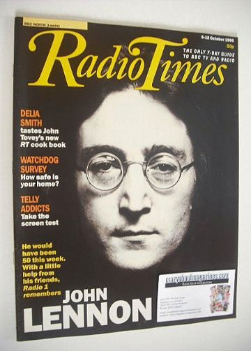 <!--1990-10-06-->Radio Times magazine - John Lennon cover (6-12 October 199