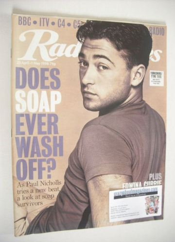 <!--1998-04-25-->Radio Times magazine - Paul Nicholls cover (25 April-1 May