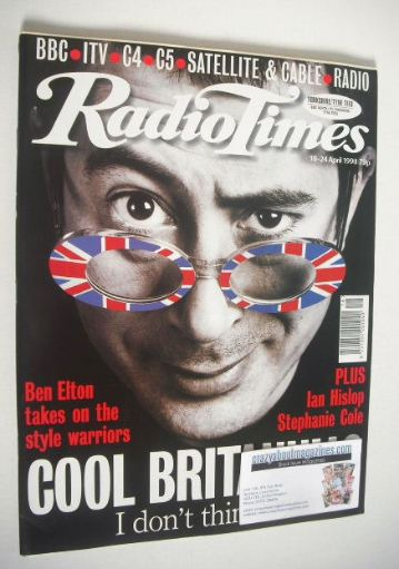 <!--1998-04-18-->Radio Times magazine - Ben Elton cover (18-24 April 1998)