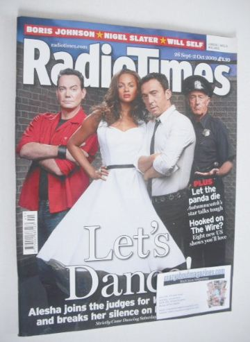 <!--2009-09-26-->Radio Times magazine - Strictly Judges cover (26 September
