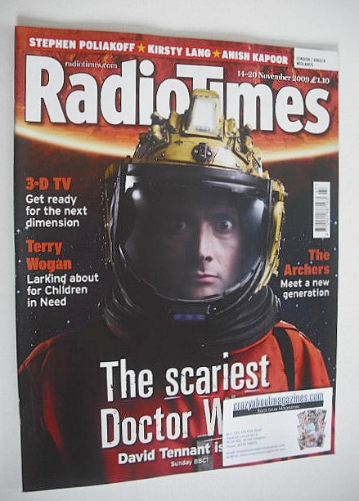 <!--2009-11-14-->Radio Times magazine - David Tennant cover (14-20 November