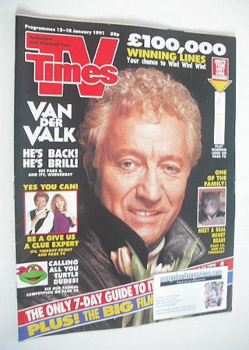 <!--1991-01-12-->TV Times magazine - Barry Foster cover (12-18 January 1991